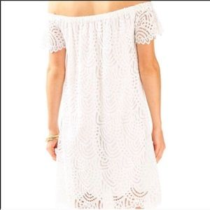 Lilly Pulitzer Dresses - Lilly Pulitzer Marble Lace Off the Shoulder Dress
